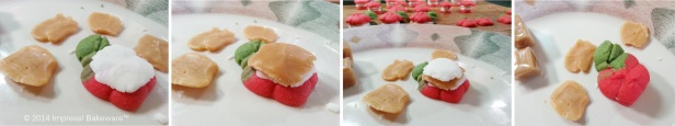 assembling caramel apple spritz press cookies © 2014 Impress! Bakeware™ cpr