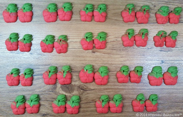 caramel apple spritz press cookies in pairs for sandwich cookies © 2014 Impress! Bakeware™