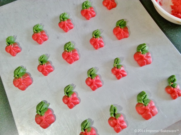 caramel apple spritz pressed cookies © 2014 Impress! Bakeware™