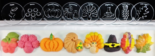 Thanksgiving 8 Disk Set for Cookie Press © 2014 Impress!™ Bakeware