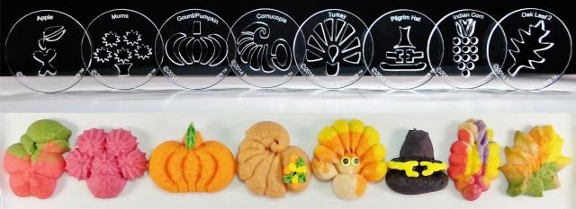 Thanksgiving 8 Disk Set for Cookie Press © 2014 Impress!™ Bakeware