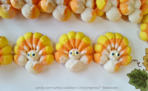 candy corn turkey cookies for cookie press 3 © 2014 Impress!™ Bakeware