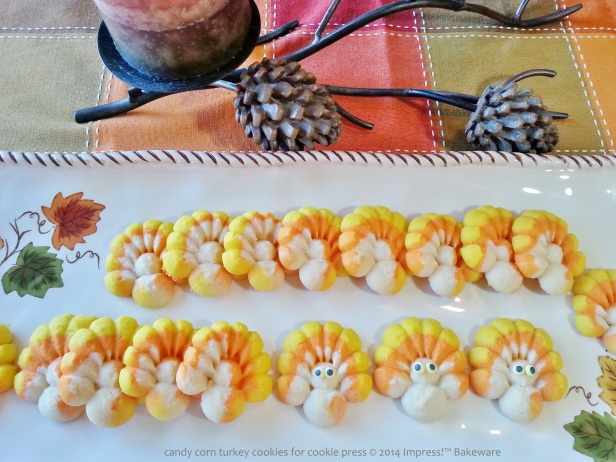 candy corn turkey cookies for cookie press 4 © 2014 Impress!™ Bakeware