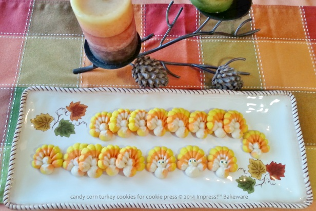 candy corn turkey cookies for cookie press 5 © 2014 Impress!™ Bakeware