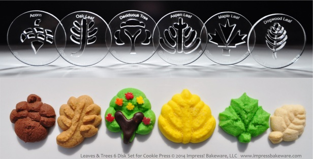 leaves-trees-6-disk-set-for-cookie-press-2014-impress-bakeware-llc-spritz