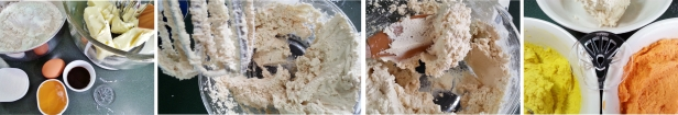 making dough for candy corn turkey cookies © 2014 Impress!™ Bakeware
