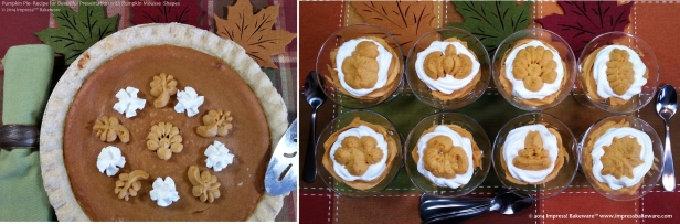 Pumpkin Pie and Pumpkin Mousse Parfaits  © 2014 Impress Bakeware, LLC