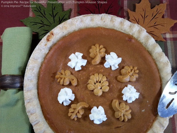 pumpkin pie- recipe for beautiful presentation- mousse from Impress!™ Bakeware p
