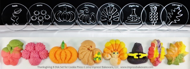 thanksgiving-8-disk-set-for-cookie-press-2014-impress-bakeware-llc-spritz