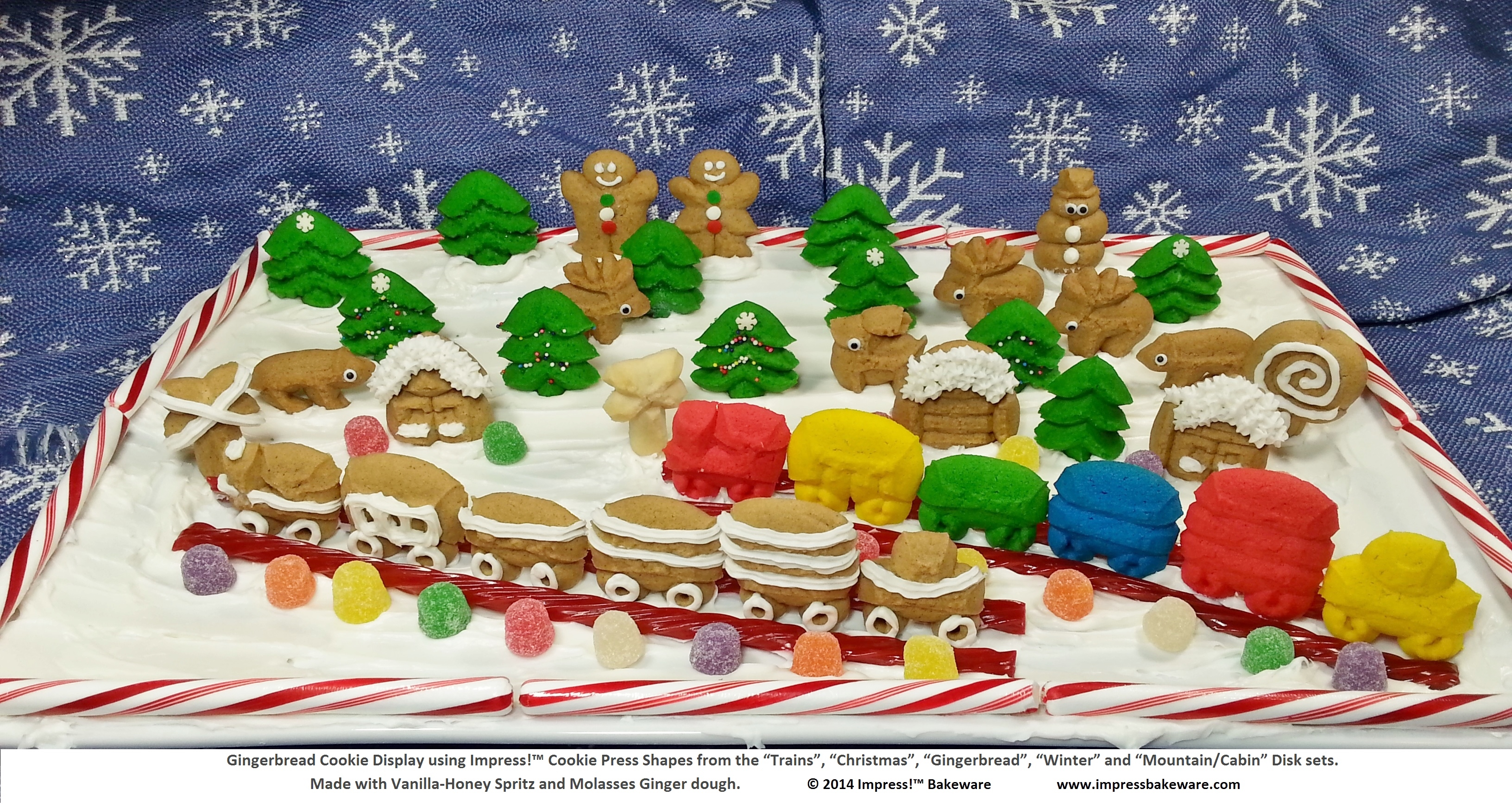 Gingerbread And Butter Spritz Cookie Winter Display Creative