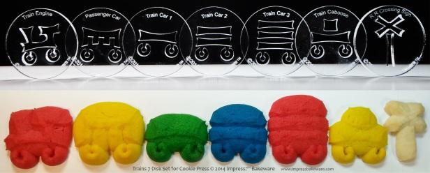 Trains 7 Disk Set for Cookie Press © 2014 Impress!™ Bakeware