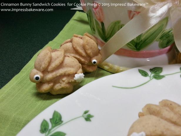 Cinnamon Bunny Sandwich Cookies  for Cookie Press   © 2015 Impress! Bakeware™