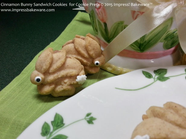 Cinnamon Bunny Sandwich Cookies  for Cookie Press   © 2015 Impress! Bakeware™