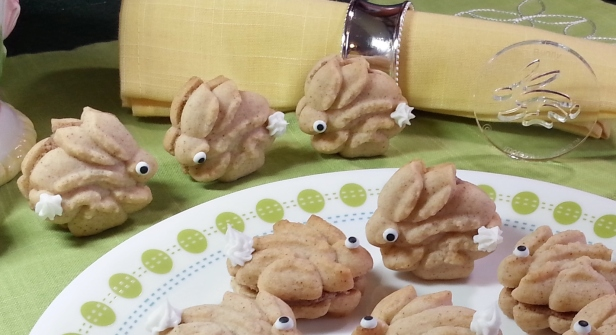 Cinnamon Bunny Sandwich Spritz Cookies cookie press fbw © 2015 Impress! Bakeware, LLC.jpg
