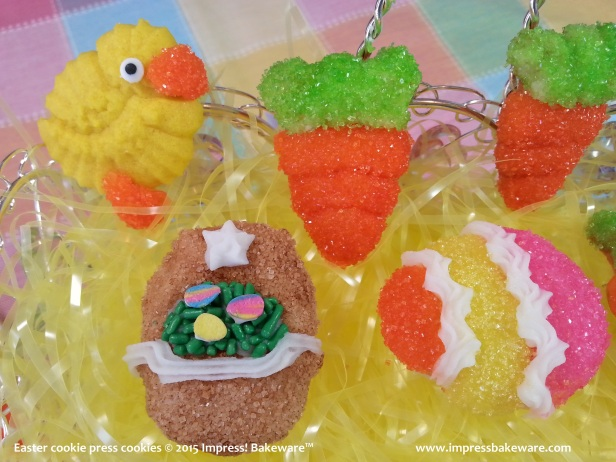 Easter cookie press cookies 10 © 2015 Impress! Bakeware™ - Copy
