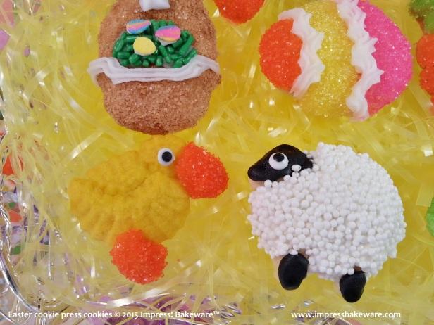 Easter cookie press cookies 11 © 2015 Impress! Bakeware™ - Copy