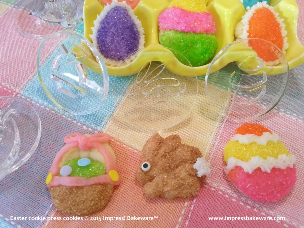 Easter cookie press cookies 12 © 2015 Impress! Bakeware™ - Copy