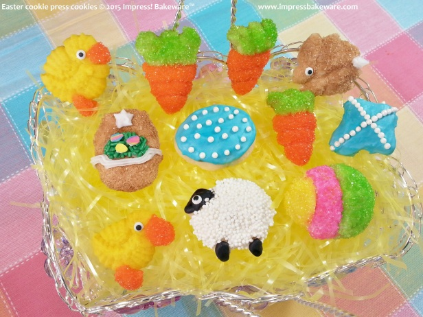 Easter cookie press cookies 2 © 2015 Impress! Bakeware™