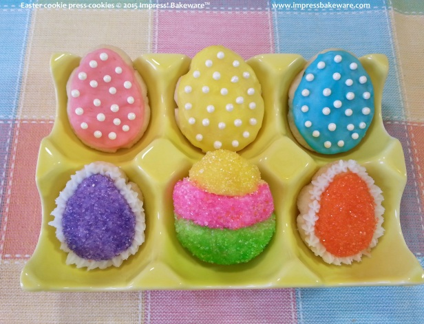 Easter cookie press cookies 3 © 2015 Impress! Bakeware™