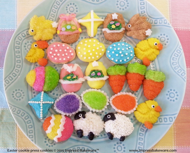 Easter cookie press cookies 4 © 2015 Impress! Bakeware™