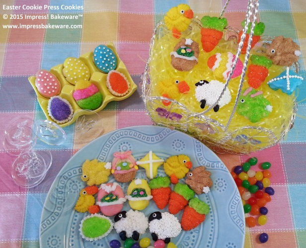 Easter Cookie Press Cookies- © 2015 Impress! Bakeware™