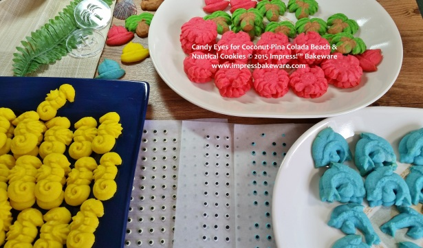 Candy Eyes for Coconut-Pina Colada Beach & Nautical Cookies © 2015 Impress!™ Bakeware