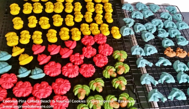 Coconut-Pina Colada Beach & Nautical Cookies © 2015 Impress!™ Bakeware