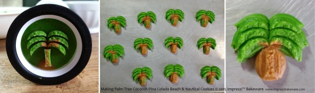 Making Palm Tree Coconut-Pina Colada Beach & Nautical Cookies       © 2015 Impress!™ Bakeware