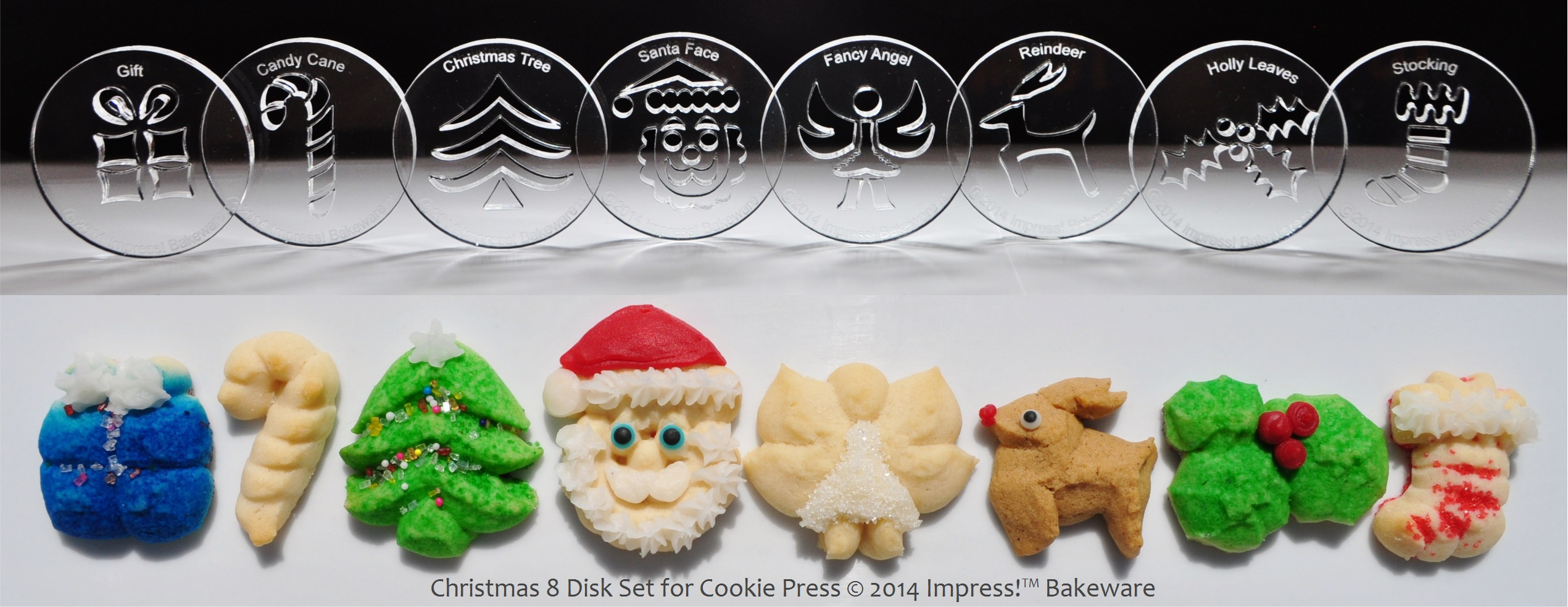 Peppermint snowflake amp candy cane cookies creative cookie press