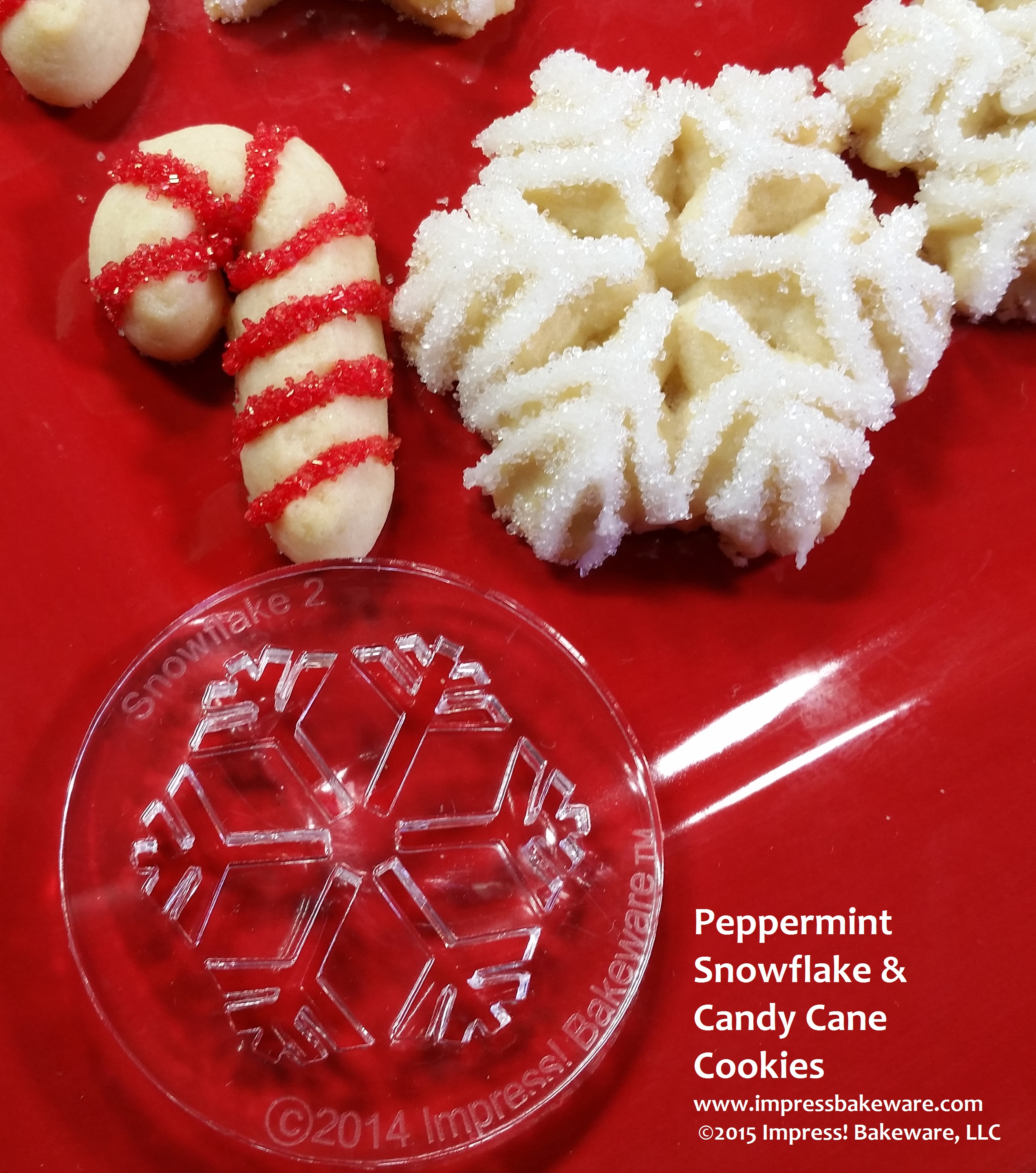 Chocolate Candy Cane Snowflakes Recipe — Dishmaps
