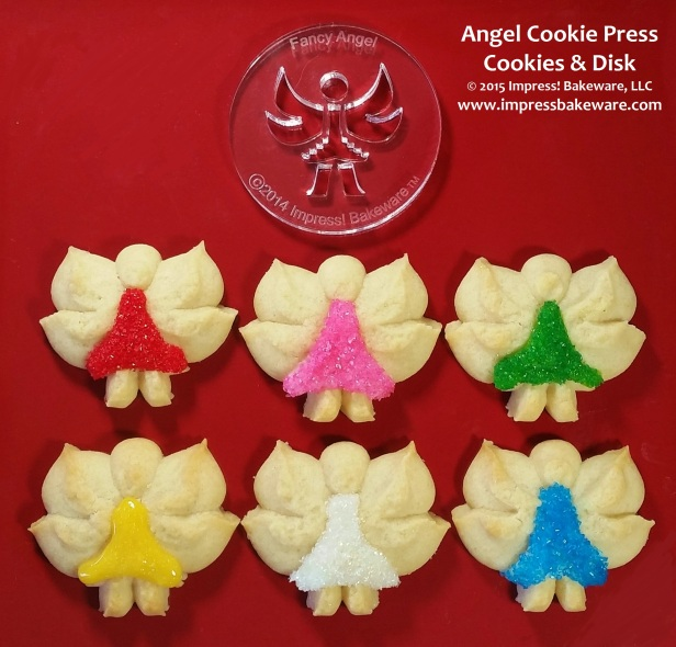Angel Cookie Press Cookies & Disks © 2015 Impress! Bakeware, LLC Spritz 1.jpg