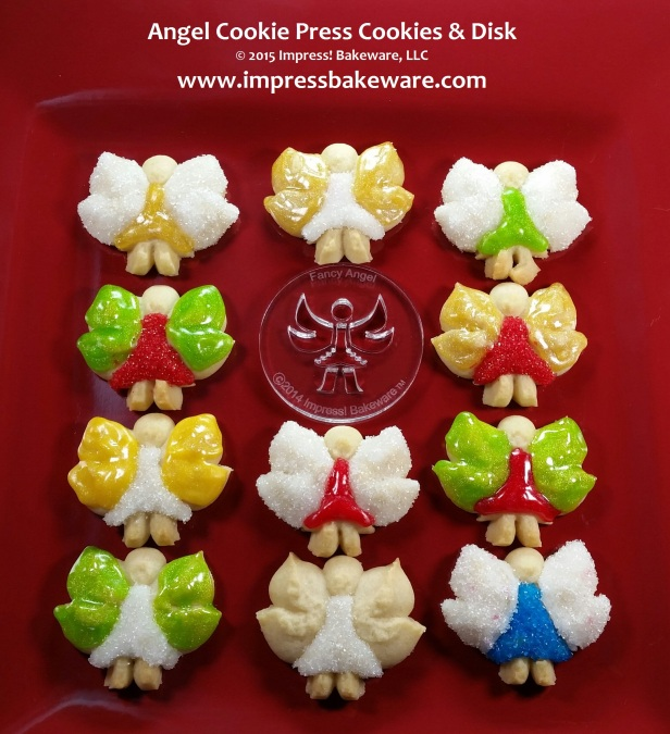 Angel Cookie Press Cookies & Disks © 2015 Impress! Bakeware, LLC Spritz.jpg
