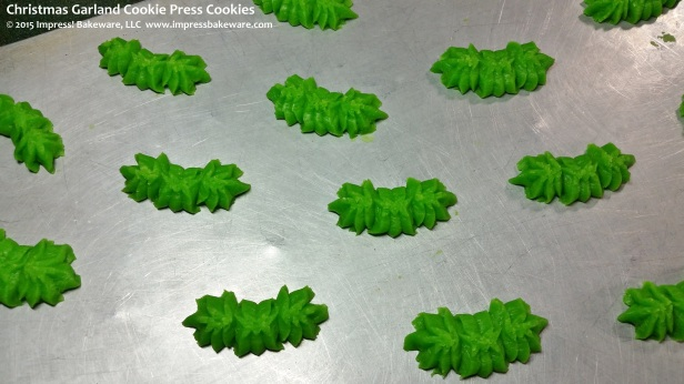Christmas Garland Cookie Press Cookies © 2015 Impress! Bakeware, LLC