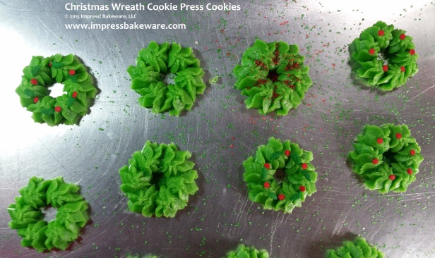 Christmas Wreath Cookie Press  Cookies © 2015 Impress! Bakeware, LLC