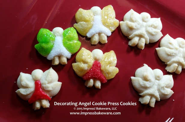 Decorating Angel Cookie Press Cookies © 2015 Impress! Bakeware, LLC 2 Spritz.jpg