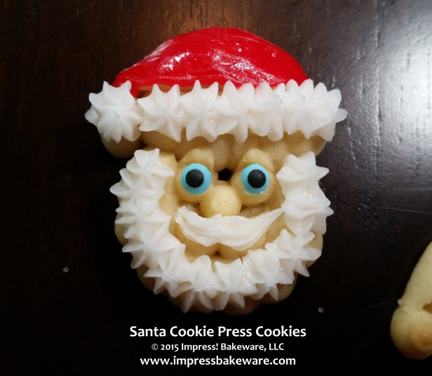 Decorating Santa Cookie Press Cookies © 2015 Impress! Bakeware, LLC.jpg