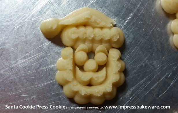 Santa Cookie Press Cookies © 2015 Impress! Bakeware, LLC 1 Spritz.jpg