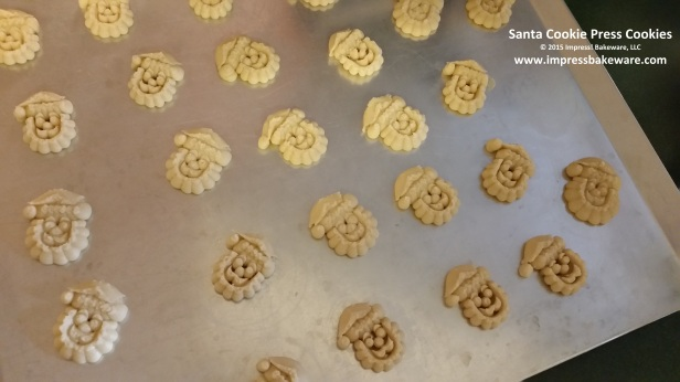 Santa Cookie Press Cookies © 2015 Impress! Bakeware, LLC 2 spritz.jpg