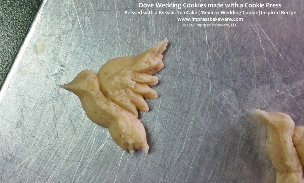 Dove Wedding Cookies made with a Cookie Press © 2016 Impress! Bakeware, LLC.jpg