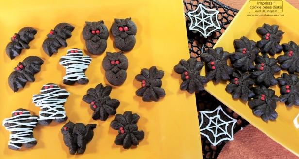 chocolate-halloween-cookie-press-spritz-cookies-multiple-sets-2016-impress-bakeware-llc-copy