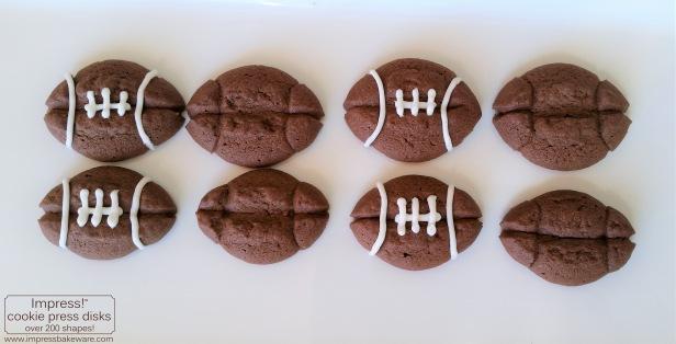 Making Chocolate Football Sandwich  Cookies © 2016 Impress! Bakeware, LLC.jpg