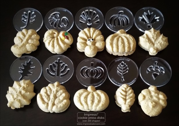pumpkin-spice-caramel-pecan-sandwich-cookies-2016-impress-bakeware-llc-cookie-press-spritz-copy