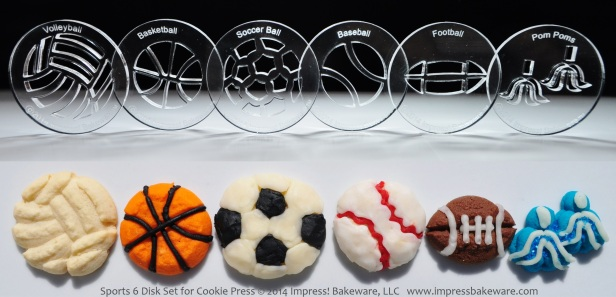 sports-6-disk-set-for-cookie-press-2014-impress-bakeware-llc-spritz