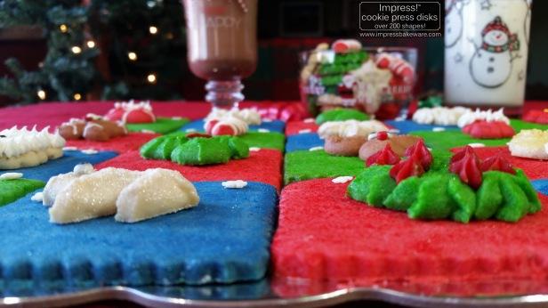 Advent Calendar Cookie Display Almond Spritz © 2016 Impress! Bakeware, LLC cookie press d.jpg