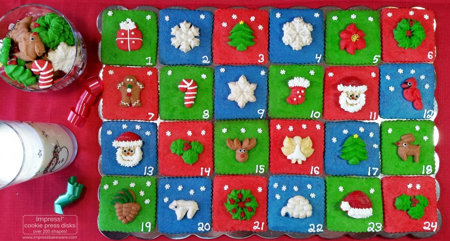 Advent Calendar Cutout-and-Spritz Cookie Display