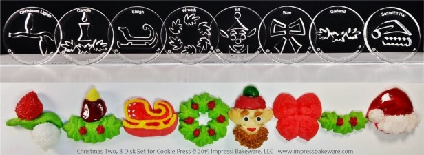 christmas-two-8-disk-set-for-cookie-press-2015-impress-bakeware-llc-spritz