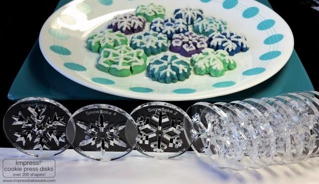 colorful-snowflakes-spritz-cookies-2016-impress-bakeware-llc-g