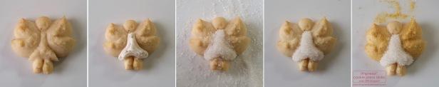 decorating-golden-winged-angel-spritz-cookies-w-2016-impress-bakeware-llc