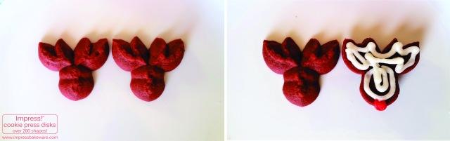 Making Red Velvet Reindeer Cookie Press Sandwich Cookies © 2016 Impress! Bakeware, LLC spritz L.jpg