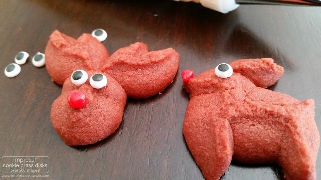 Red Velvet Reindeer Cookie Press Cookies © 2016 Impress! Bakeware, LLC spritz d.jpg